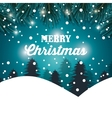 happy merry christmas card isolated vector image