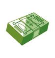 Isolated green money bills vector image