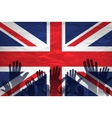 Open hand raised multi purpose concept UK United vector image
