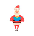 santa claus holding a gift box or giving present vector image