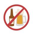Stop drink vector image