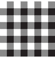 Black white check pattern seamless fabric texture vector image