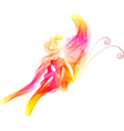 abstract red butterfly vector image vector image