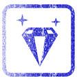 sparkle diamond crystal framed textured icon vector image