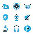 music colored icons set collection of mute vector image