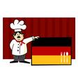 German cuisine vector image