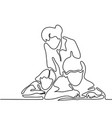 teacher with children writting in sheet vector image