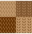 Wheat patterns set vector image