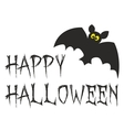 Happy Halloween party card with bat vector image vector image