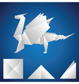 paper dragon vector image vector image