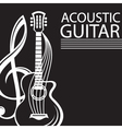 poster with guitar vector image vector image