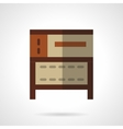Cake oven flat color icon vector image