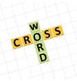 Crossword icon vector image