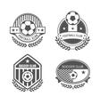 Football logo vector image