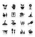 Garden an icon vector image