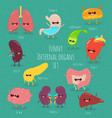 healthy internal organs funny art vector image