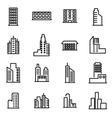 line building icon set vector image