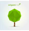 origami tree vector image