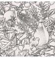 Seamless herbs vector image