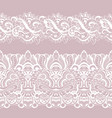 set white laces seamless pattern border vector image