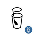 stirring icon stir well outline style symbol vector image