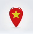 Vietnamese icon point for map vector image