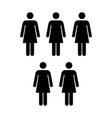 People icon group of women team pictogram glyph vector image