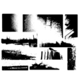 grunge corners vector image