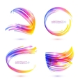 Abstract technology lines frames set vector image