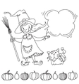 Cute witch Banner for your design vector image vector image