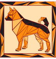 Chinese horoscope stylized stained glass dog vector image