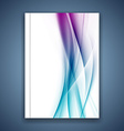 Satin bright blue smooth soft lines folder cover vector image