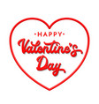 3d letters happy valentines day vector image