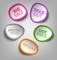 Colorful abstract stickers sale template vector image vector image