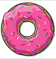 Cartoon donut vector image