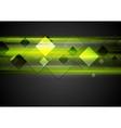 Dark green glowing tech background vector image