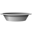 metal basin vector image