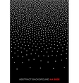 White Gradient Halftone Dots on black Background vector image