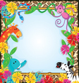 Jungle Zoo Party Invitation vector image