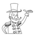 character man host circus show image vector image