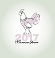 Chinese year 2017 vector image
