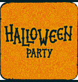 halloween night party vintage card with text vector image