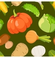 Healty food cartoon seamless pattern vector image