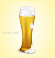 light beer with the foam vector image
