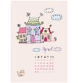 month calendar april 2018 fabulous home vector image