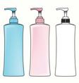 Pump Plastic Bottle vector image