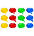 speech symbol color v vector image