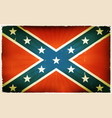 vintage american confederate flag poster vector image