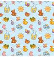 Baby toys cartoon set seamless pattern vector image