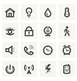Icon set for security system and house automation vector image vector image